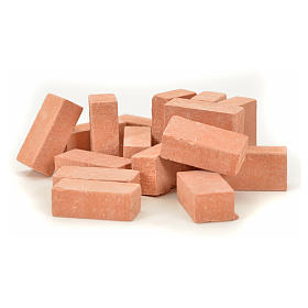 Home accessories miniatures: Nativity accessory, resin bricks 20x10mm, 16pcs