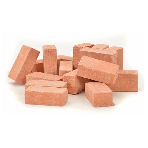 Nativity accessory, resin bricks 20x10mm, 16pcs 1