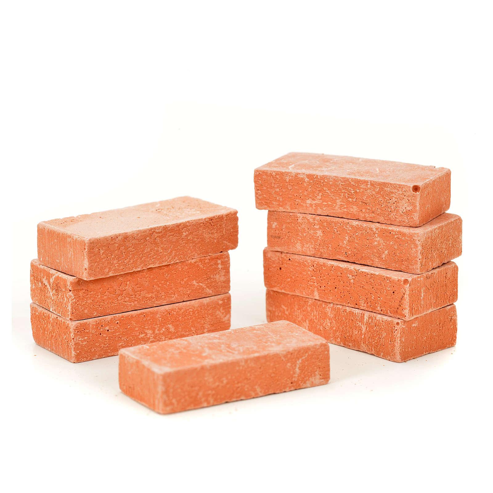 Nativity accessory, resin bricks 20x10mm, 8pcs 4