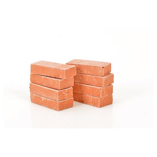 Nativity accessory, resin bricks 20x10mm, 8pcs 1