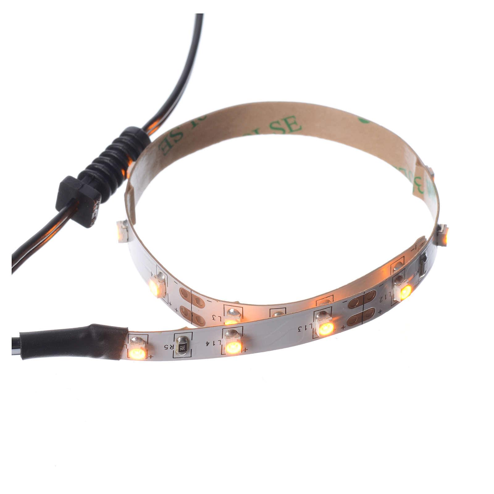 Tira de LED Power 'PS' 15 LED 0.8 x 25 cm. amarillo Frial Power 4