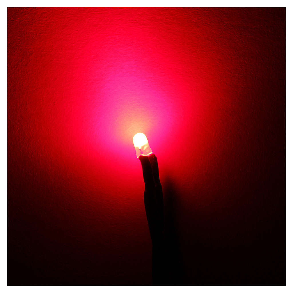 Led diam 3 mm luce rossa per centraline serie Frisalight 4