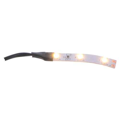 LED strip with 3 lights 0,8x4cm, warm white for Frisalight 1