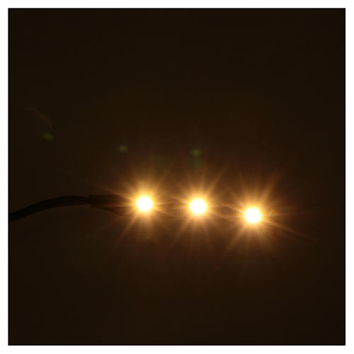 LED strip with 3 lights 0,8x4cm, warm white for Frisalight 2