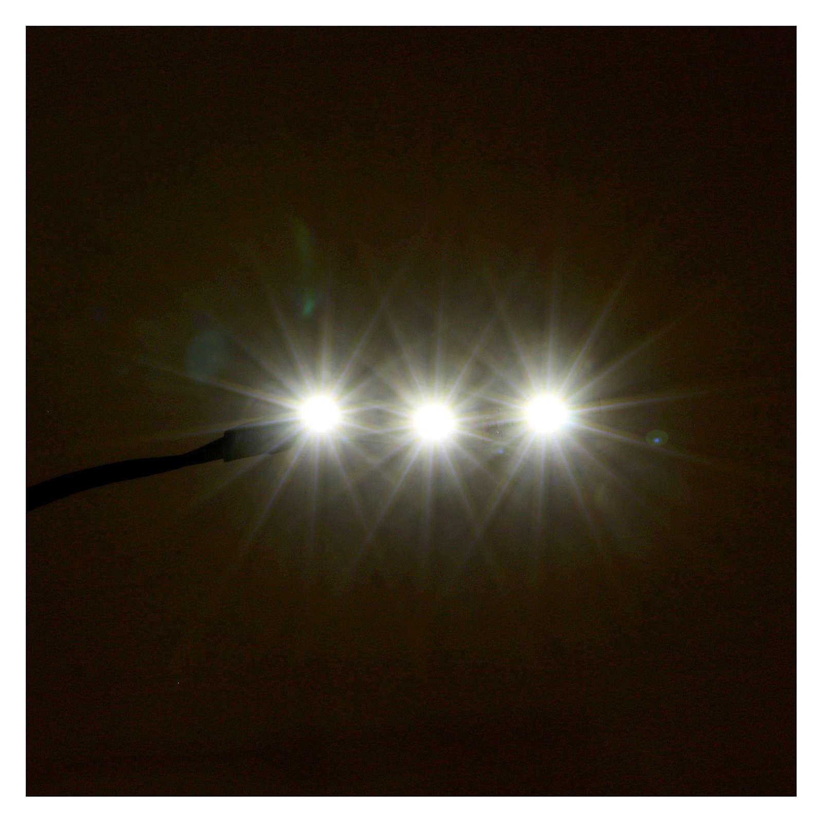 Led a strisce 3 led cm 0,8x4 cm bianca fredda per Frisalight 4