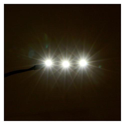 Led a strisce 3 led cm 0,8x4 cm bianca fredda per Frisalight 2