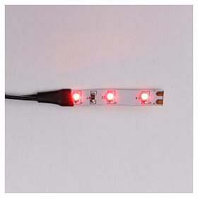 LED strip with 3 lights 0,8x4cm, red for Frisalight s1