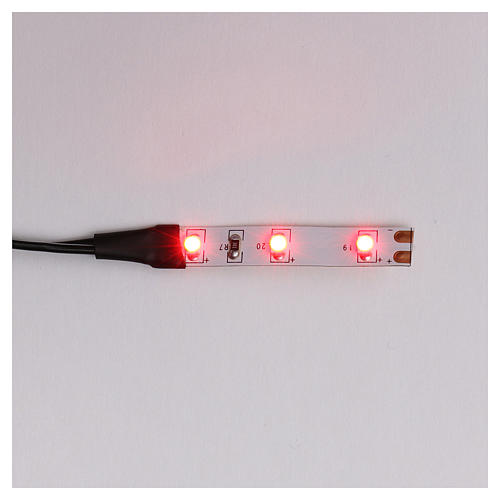 LED strip with 3 lights 0,8x4cm, red for Frisalight 1