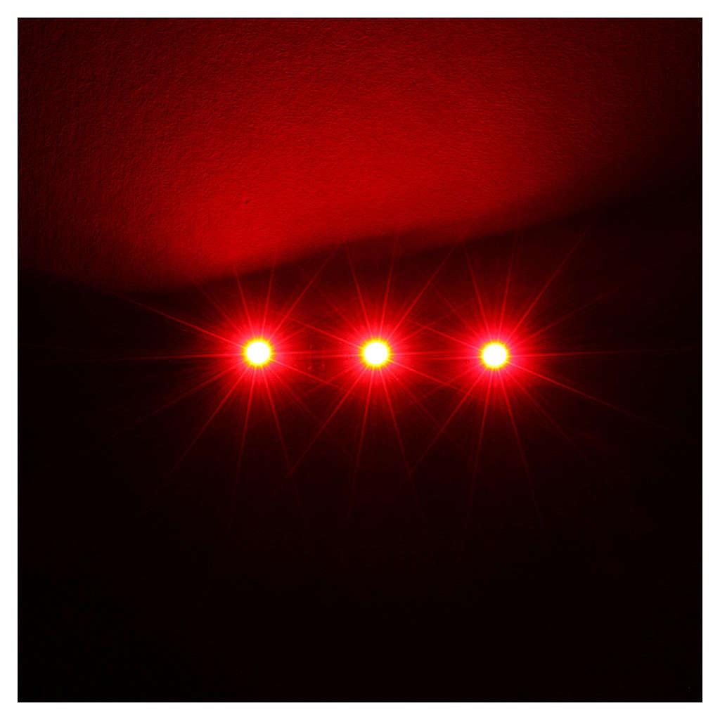 Tira de 3 LED cm. 0.8x4 cm. roja Frisalight 4