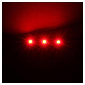 Tira de 3 LED cm. 0.8x4 cm. roja Frisalight s2