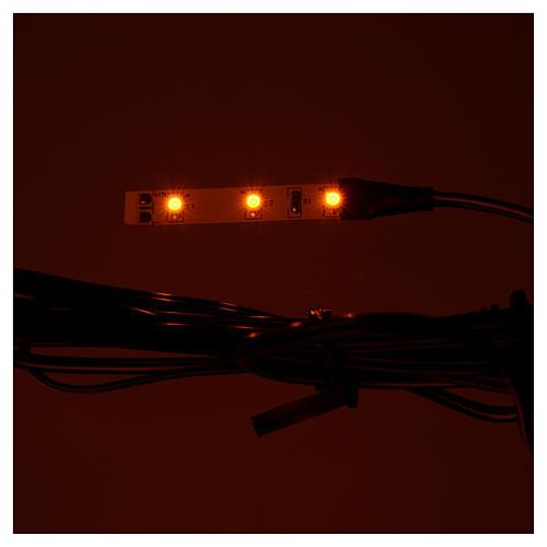Mini bande 3 leds 0,8x4 cm jaune pour Frisalight 2