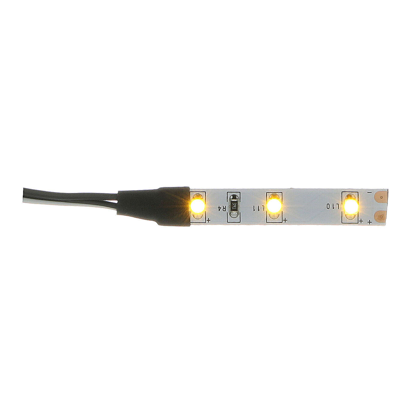 LED strip with 3 lights 0,8x4cm, yellow for Frisalight 4