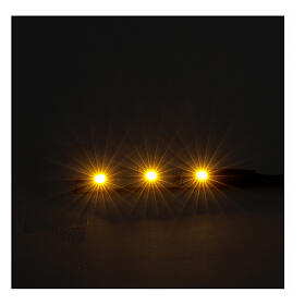 LED strip with 3 lights 0,8x4cm, yellow for Frisalight s2