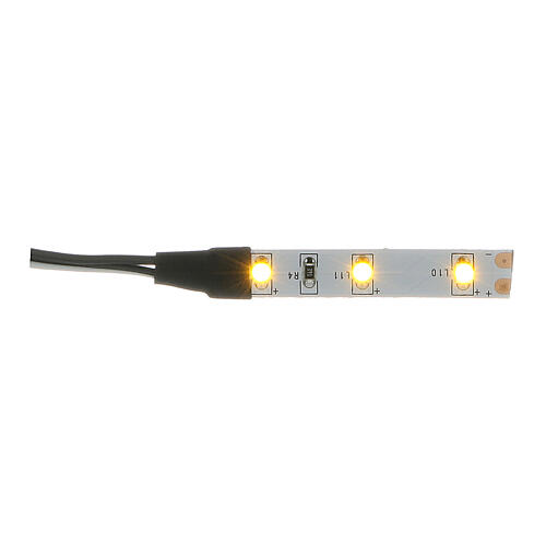LED strip with 3 lights 0,8x4cm, yellow for Frisalight 1