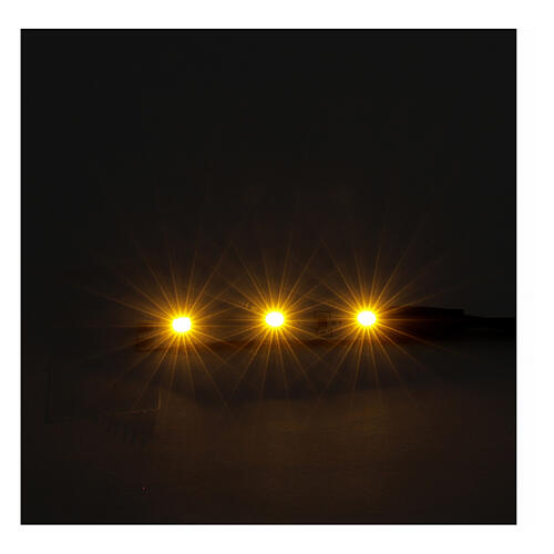 LED strip with 3 lights 0,8x4cm, yellow for Frisalight 2