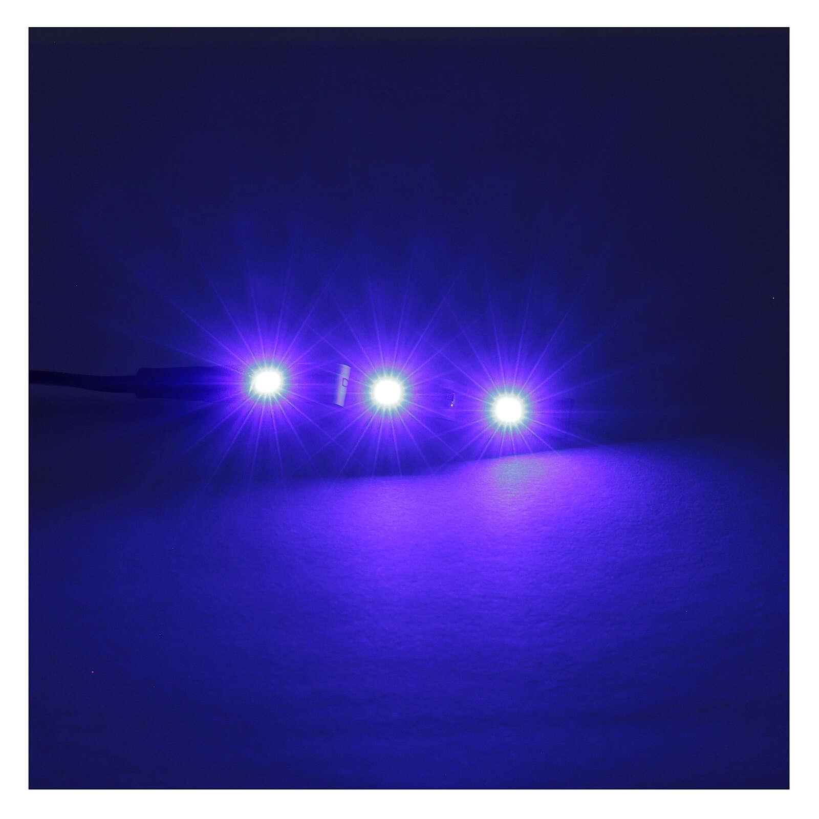 Led a strisce 3 led cm 0,8x4 cm blu per Frisalight 4