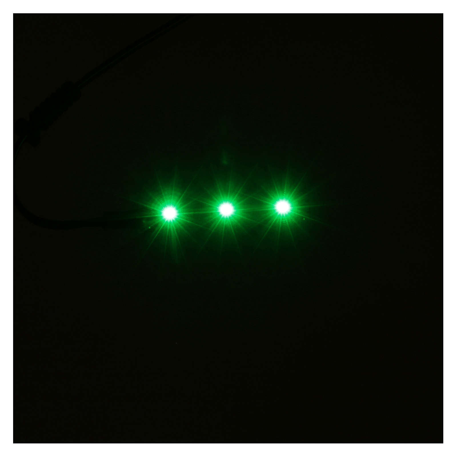 LED strip with 3 lights 0,8x4cm, green for Frisalight 4