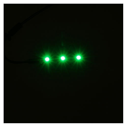LED strip with 3 lights 0,8x4cm, green for Frisalight 2