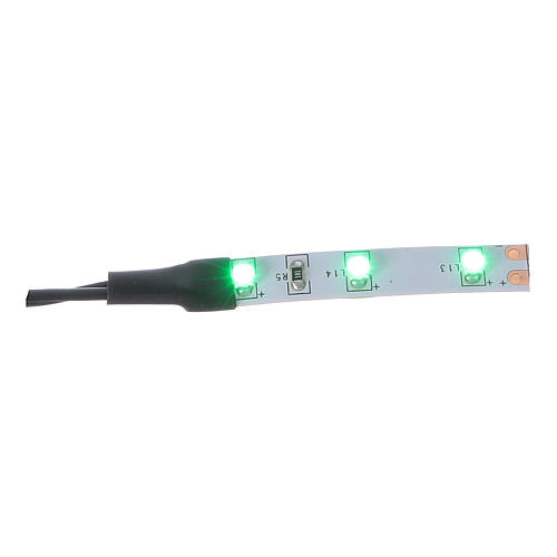 Led a strisce 3 led cm 0,8x4 cm verde per Frisalight 1