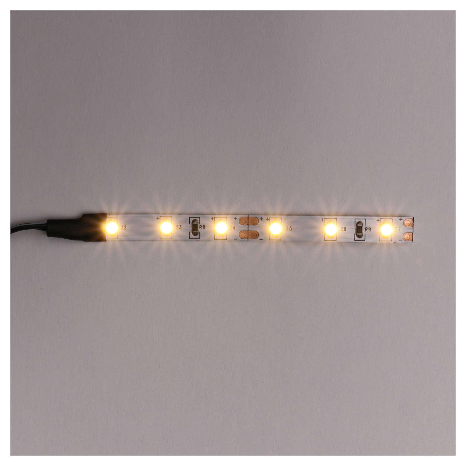 Tira de 6 LED cm. 0.8x8 cm. blanca caliente Frisalight 4