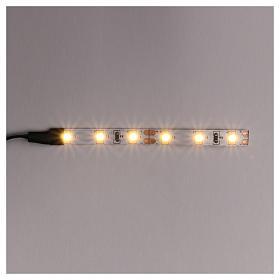 Tira de 6 LED cm. 0.8x8 cm. blanca caliente Frisalight s1