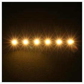 Tira de 6 LED cm. 0.8x8 cm. blanca caliente Frisalight s2