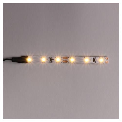 Tira de 6 LED cm. 0.8x8 cm. blanca caliente Frisalight 1