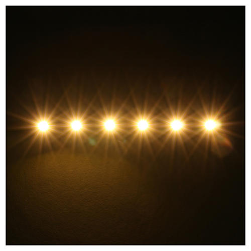 Tira de 6 LED cm. 0.8x8 cm. blanca caliente Frisalight 2
