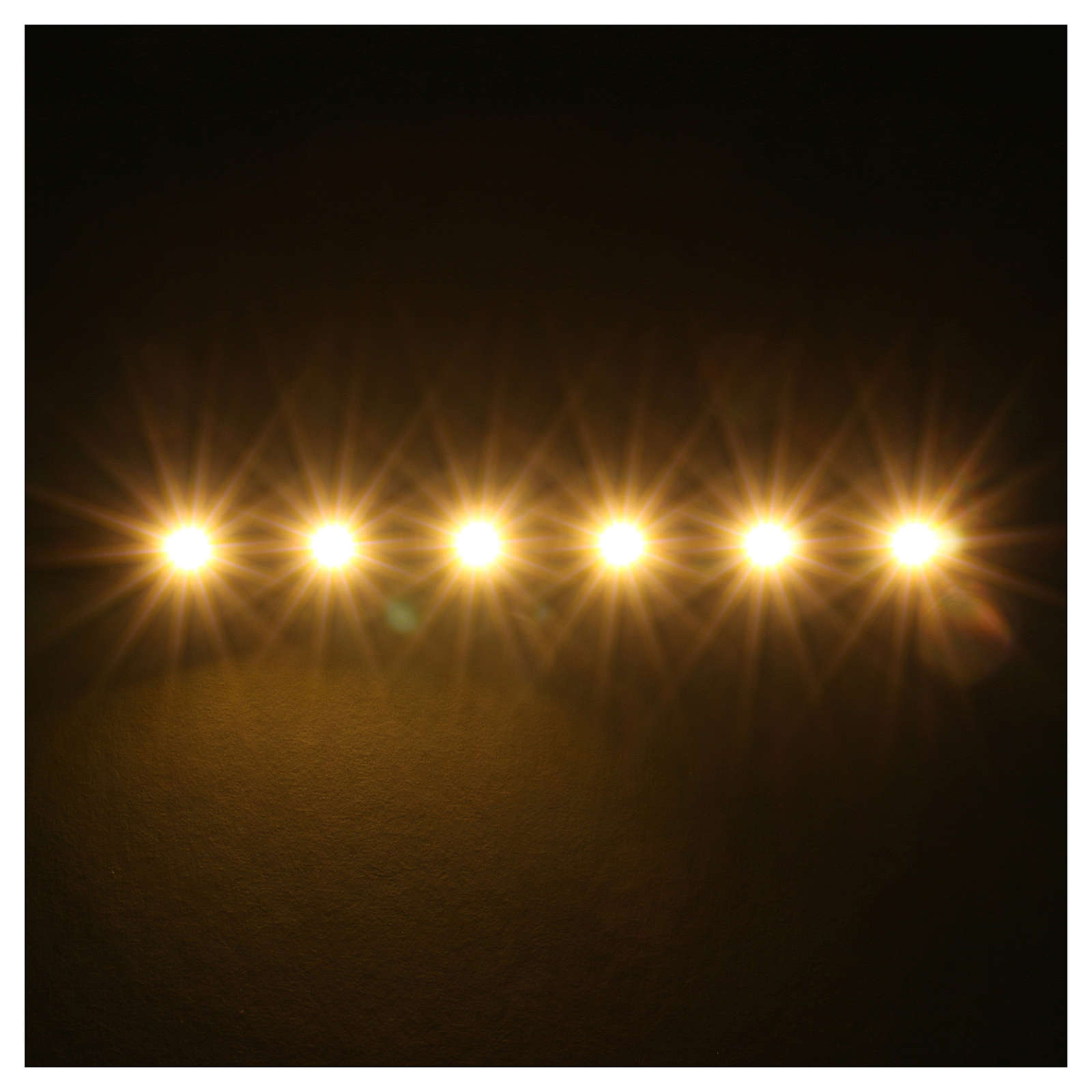 LED strip with 6 lights 0,8x8cm, warm white for Frisalight 4
