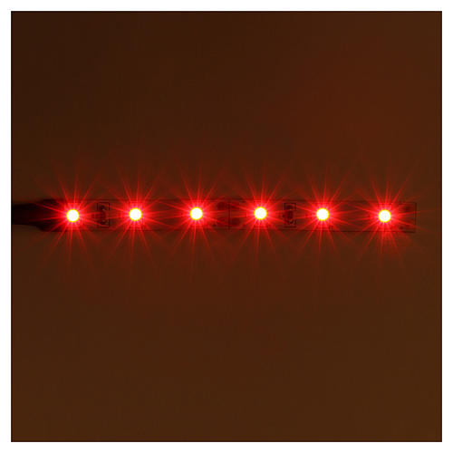 LED strip with 6 lights 0,8x8cm, red for Frisalight 2