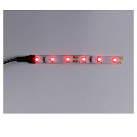 Tira de 6 LED cm. 0.8x8 cm. roja Frisalight s1