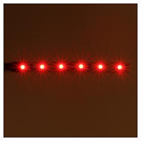 Bande 6 leds pour Frisalight 0,8x8 cm rouge s2