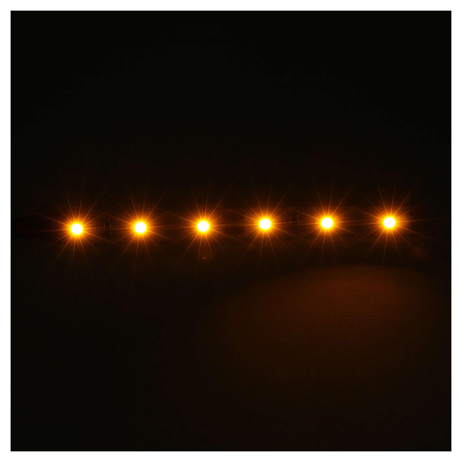 Tira de 6 LED cm. 0.8x8 cm. amarilla Frisalight 4
