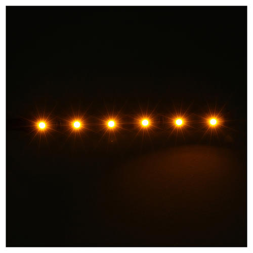 Tira de 6 LED cm. 0.8x8 cm. amarilla Frisalight 2