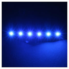 LED strip with 6 lights 0,8x8cm, blue for Frisalight s2