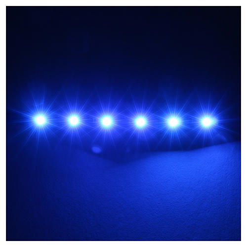 LED strip with 6 lights 0,8x8cm, blue for Frisalight 2