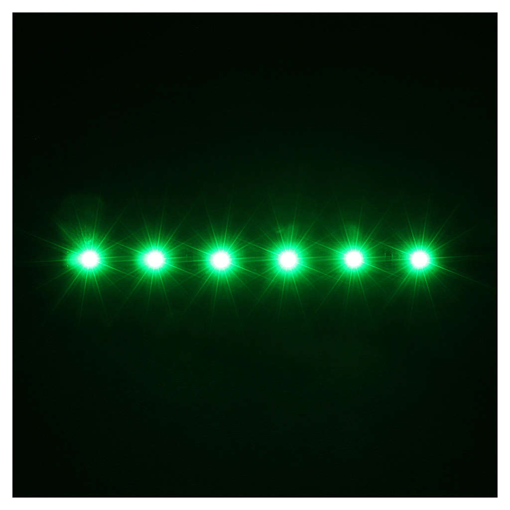 LED strip with 6 lights 0,8x8cm, green for Frisalight 4