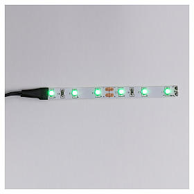 Control units and accessories for Nativity Scene: LED strip with 6 lights 0,8x8cm, green for Frisalight