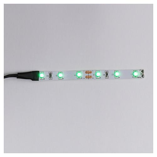 Tira de 6 LED cm. 0.8x8 cm. verde Frisalight 1