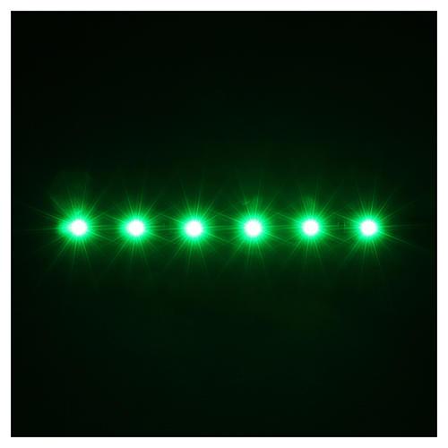 Tira de 6 LED cm. 0.8x8 cm. verde Frisalight 2