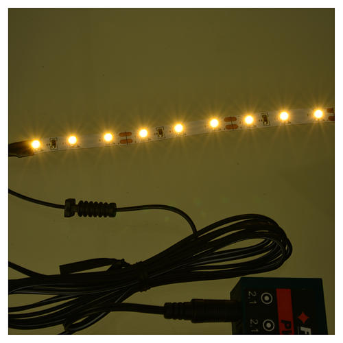 LED strip with 9 lights 0,8x12cm, white for Frisalight 2