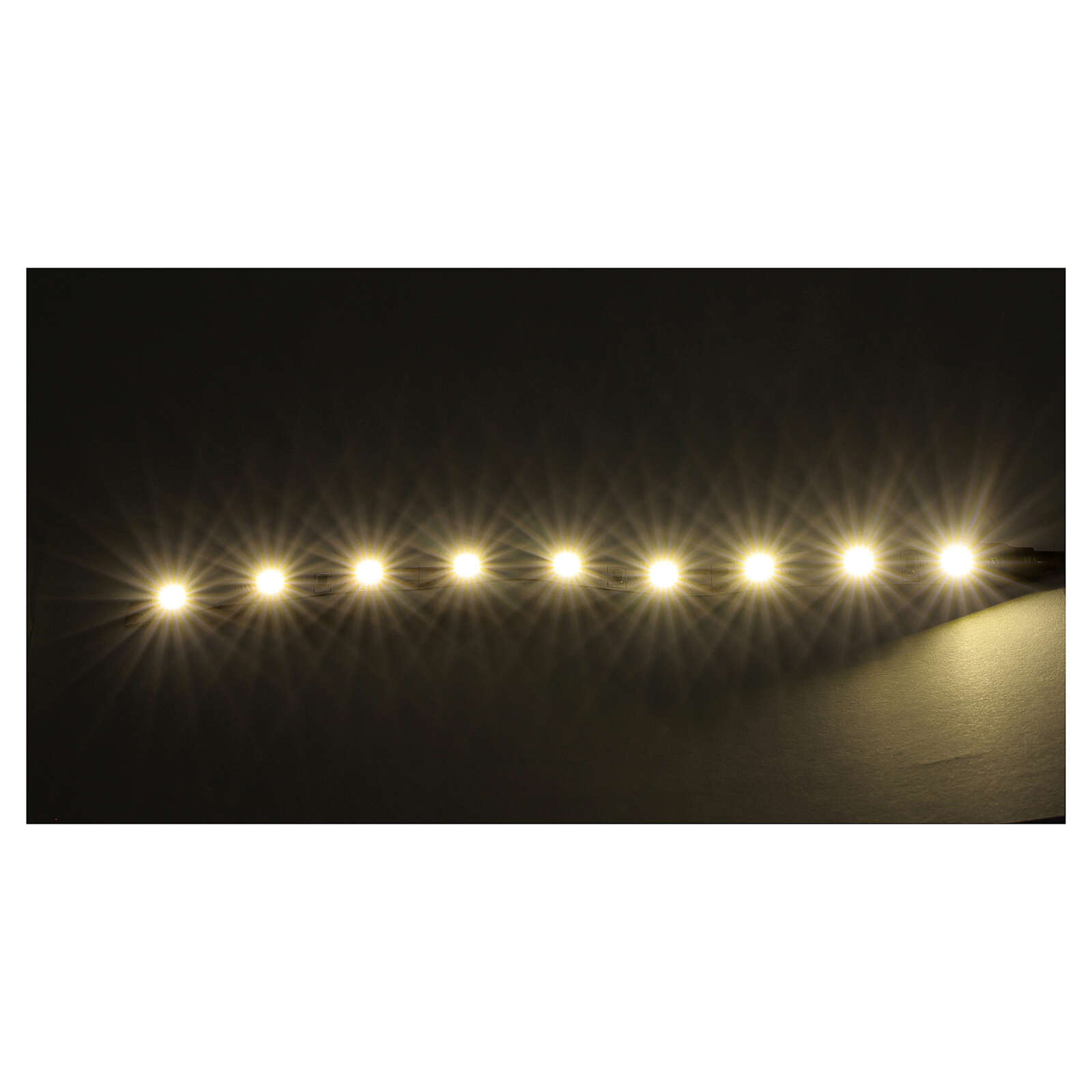 LED strip with 9 lights 0,8x12cm, white for Frisalight 4