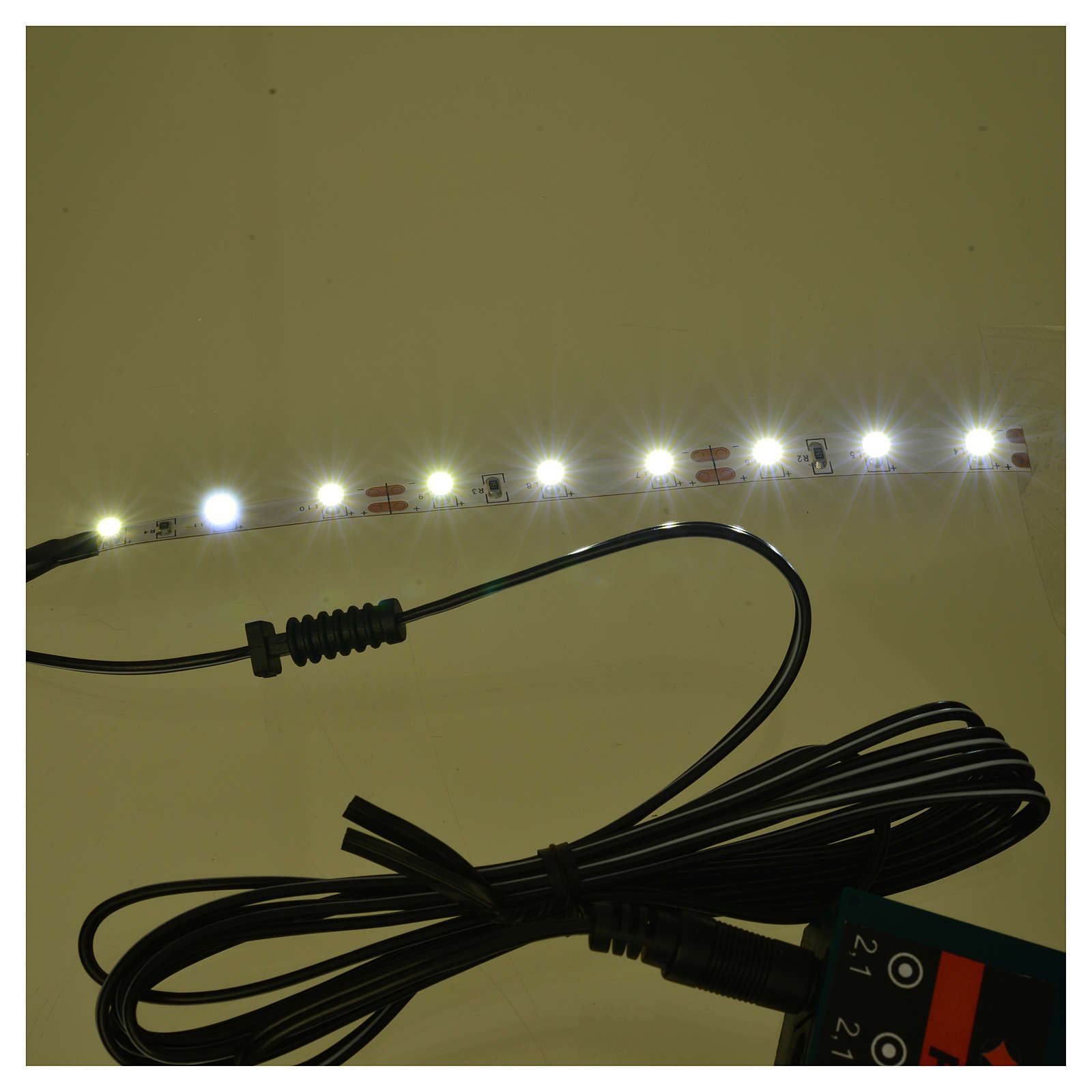 LED strip with 9 lights 0,8x12cm, cold white for Frisalight 4