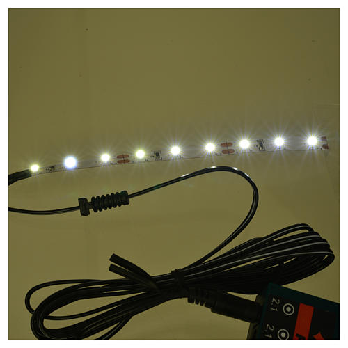 LED strip with 9 lights 0,8x12cm, cold white for Frisalight 2