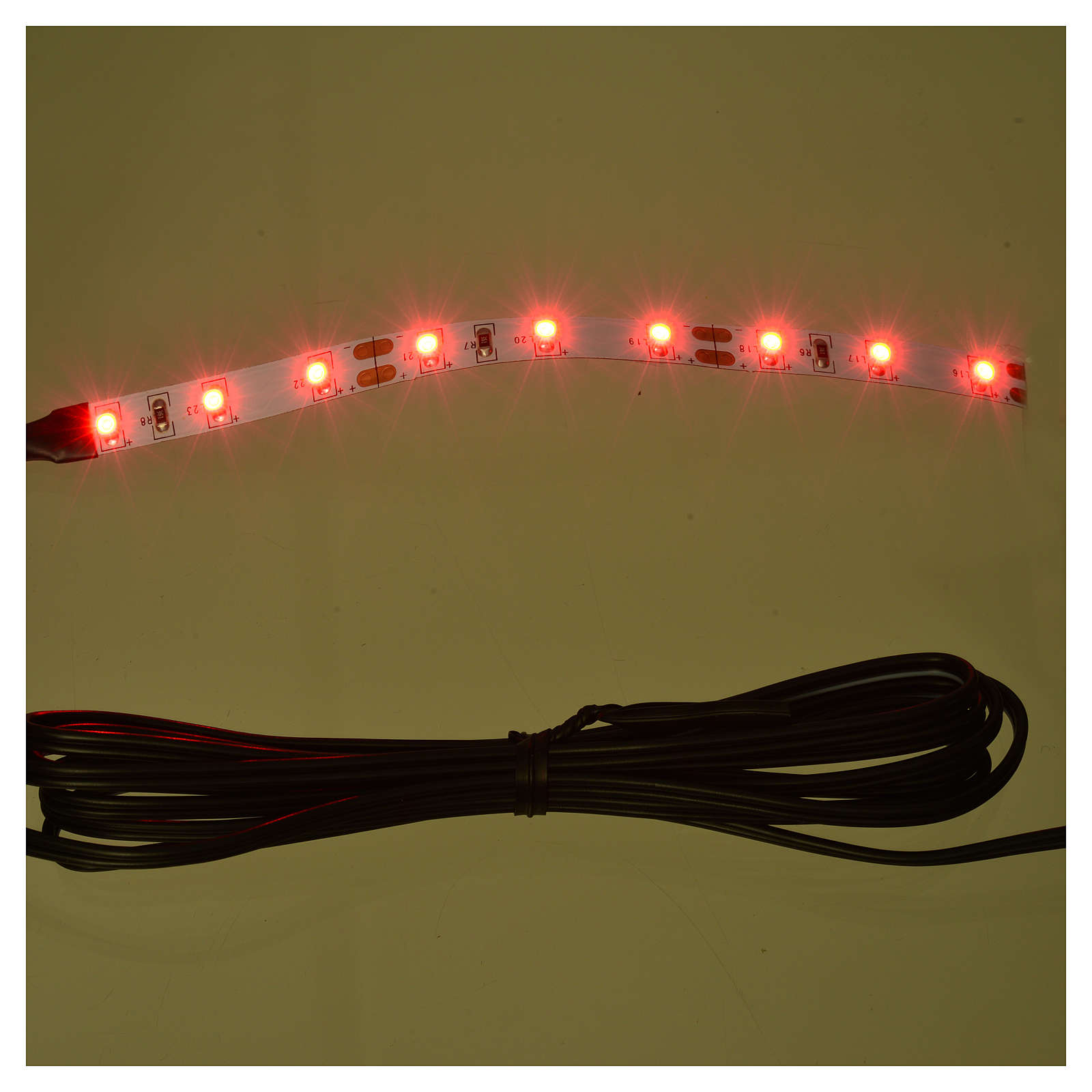 Tira de 9 LED cm. 0.8x12 cm. roja Frisalight 4