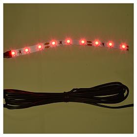 Tira de 9 LED cm. 0.8x12 cm. roja Frisalight s2