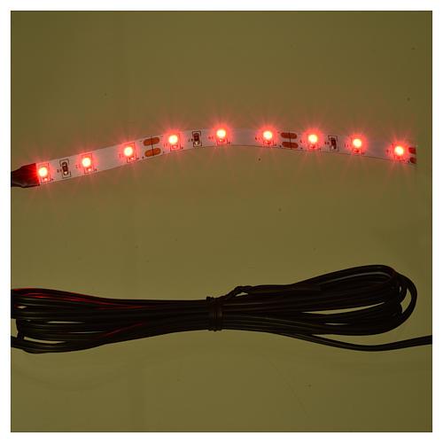 Tira de 9 LED cm. 0.8x12 cm. roja Frisalight 2