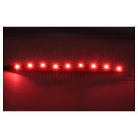 Led strisce 9 led cm 0,8x12 cm rossa per Frisalight s2