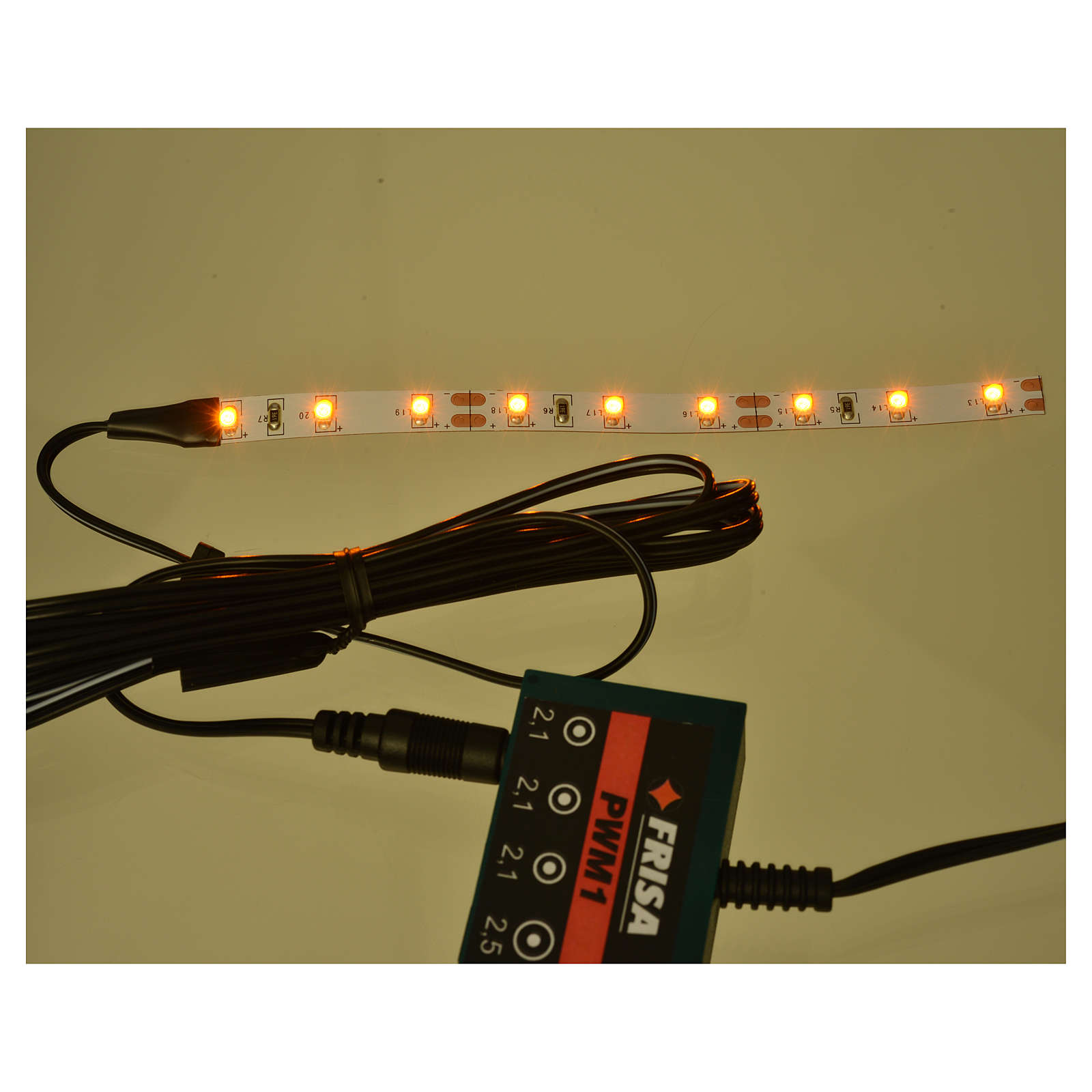 Led strisce 9 led cm 0,8x12 cm gialla per Frisalight 4