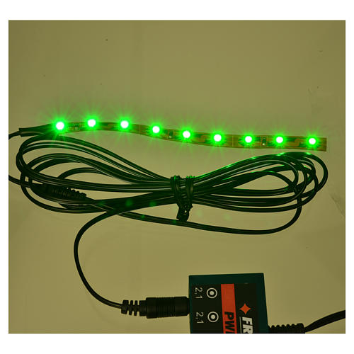 Led strisce 9 led cm 0,8x12 cm verde per Frisalight 2